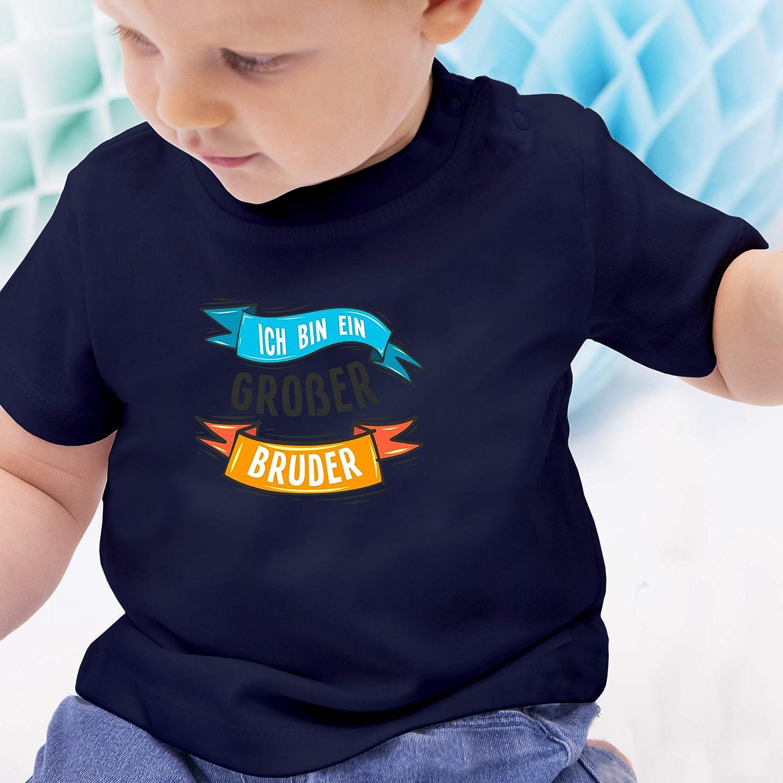 Geschwisterliebe Baby Baby T-Shirt Kurzarm Ich Bin EIN gro/ßer Bruder Banner Shirtracer