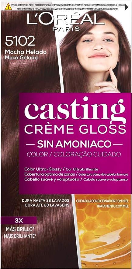 LOreal Paris Casting Crème Gloss Baño De Color 5102 Mocha Helado 240 g