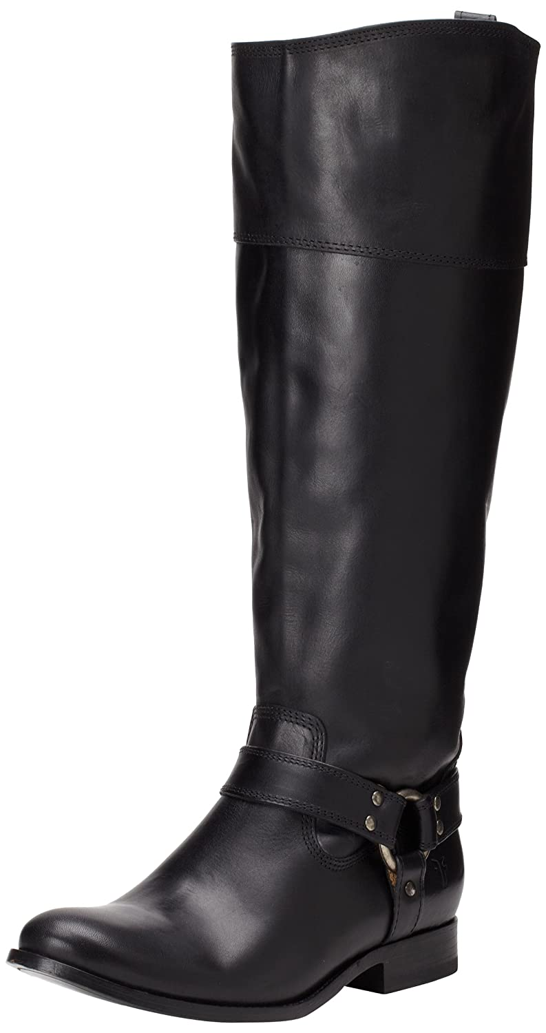 FRYE Women's Melissa Harness Inside-Zip Boot B00AX4LUNY 6.5 B(M) US|Black Smooth Vintage Leather Wide Calf-76927