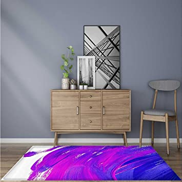 Ideal Anti Slip Rug Listic Brush Strokes Of Oil Paint Themed Bright