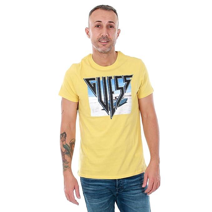 GUESS Camiseta Hombre S Amarillo M81I40I3Z00 - SNGL