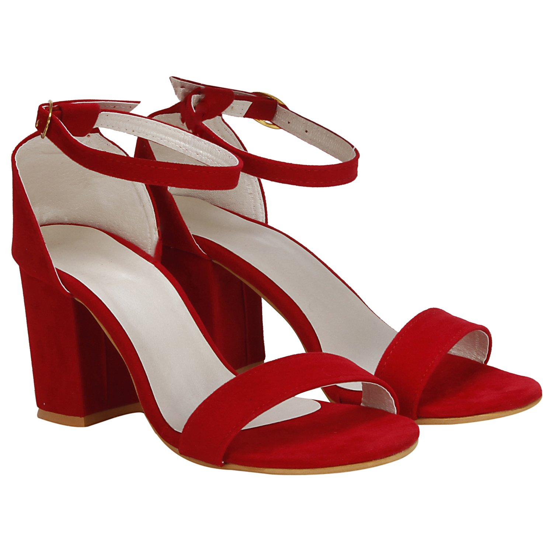 171cf8114b65 MISTO Women s Suede Leather Block Heel Sandals  Buy Online at Low Prices in  India - Amazon.in