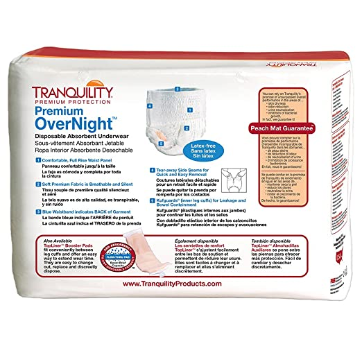 Amazon.com: Premium OverNight Incontinence Underwear, Large: Health & Personal Care