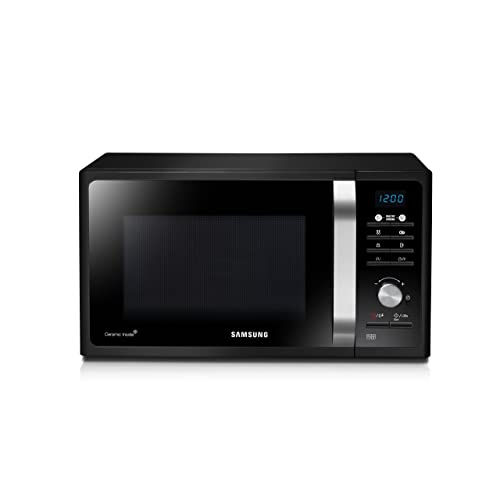 Samsung MG23F301TAK/EC - Microondas con grill, 23 litros, 1100 W, interior
