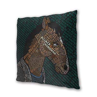 "NOT BRAND BoJack Horseman Outdoor/Indoor Cushions 18.5""x 18.5"", 2 Pieces: Home & Kitchen"