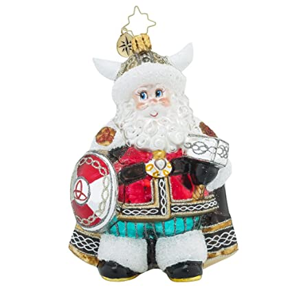 christopher radko victorious viking santa claus viking christmas ornament - Viking Christmas