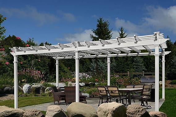 New England husillos Regency Grande 12 x 24 Pérgola: Amazon.es: Jardín