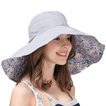 Amazon.com: WENZHE Summer Womens Outdoor Sun Hats GirlsCaps Visors Large Brim Sun Protection Anti-UV Collapsible Easy to Carry, 3 Colors, 2 Sizes (Color ...