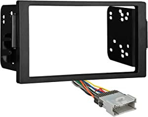 Metra 95-3106 Double DIN Stereo Dash Kit + Harness for Select 2000-2005 Saturn