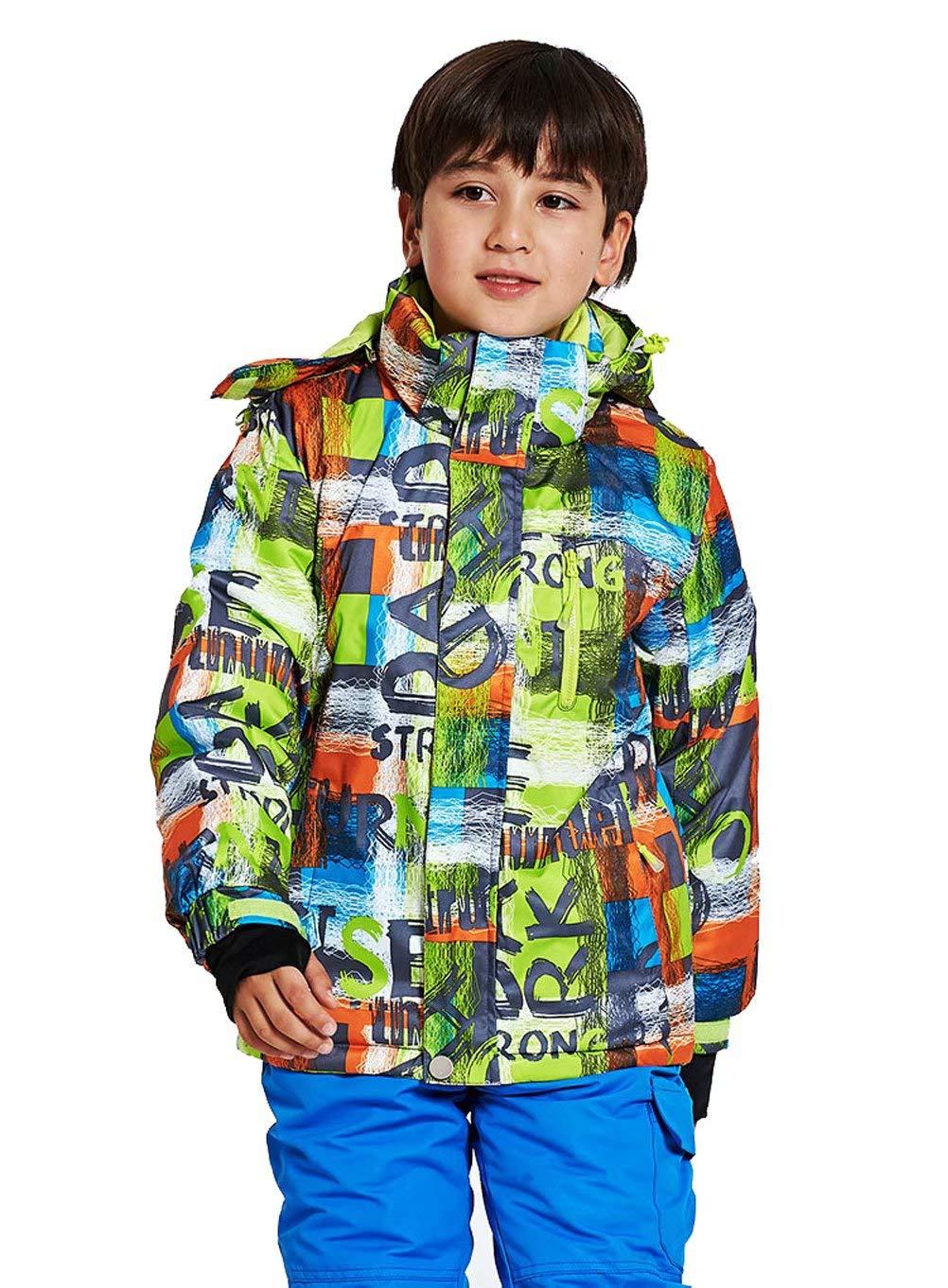Kayiyasuスキーウェア スキージャケット 子供用 女の子 男の子 ジュニア用 アウター スポーツ スノーウェア 登山服 山登り 防寒着 撥水 防風 041-wdn-pyj623 B07GXK3MP1 110 色2 色2 110