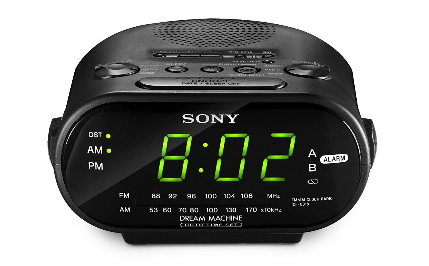 Sony ICF-C318 Clock Radio with Dual Alarm (Black) (Discontinued by Manufacturer) [並行輸入品] B000MXWSY6