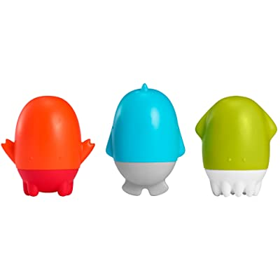 Boon Spurt Squirties Baby Bath Toys, Blue Orange and Green, Pack of 3 : Baby