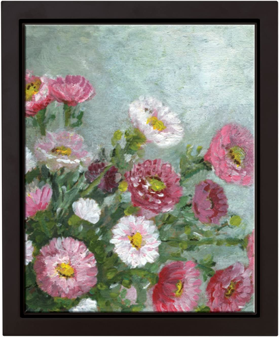 MOTHER KIDS FLOWER DAISY CHAIN FINE ART PAINTING REAL CANVAS GICLEE 8X10PRINT