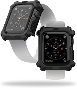 URBAN ARMOR GEAR UAG Compatible Apple Watch Case 44mm, iWatch Series 6/5/4 & Watch SE, Rugged Protective Bumper Case, Black/Black