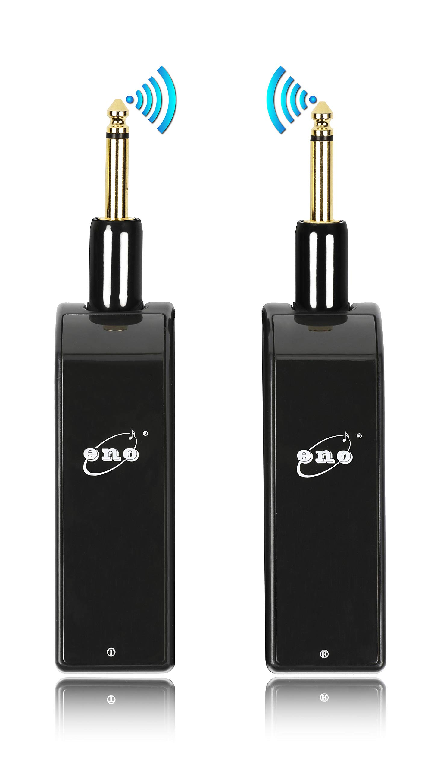 Eno Rechargeable 2.4GHz Wireless Guitar System - Digital Sound Wireless Transmitter and Receiver for Guitar - Super Strong Signal over 160 Feet - Shortest Latency in 1.5ms with Touch Screen Button by Eno