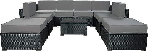 MCombo 9 Pieces Patio Furniture Set