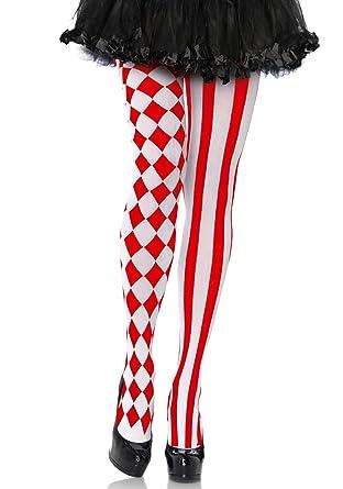 Adult Halloween Harlequin /& Hearts Fancy Dress High Tights Long Socks Stockings