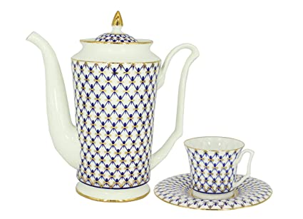Amazoncom Coffee Pot Julia Cobalt Net And Espresso Cup Set