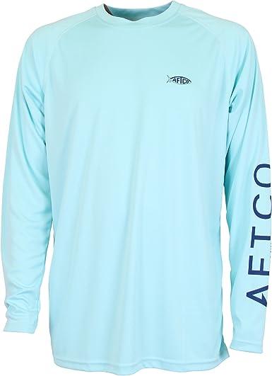 -Pick Size-Free Ship Turquoise AFTCO Samurai Performance Fishing Sun Shirt