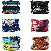 6 PCS Pañuelos Cabeza, Seamless Headwear Multifunción Bandana