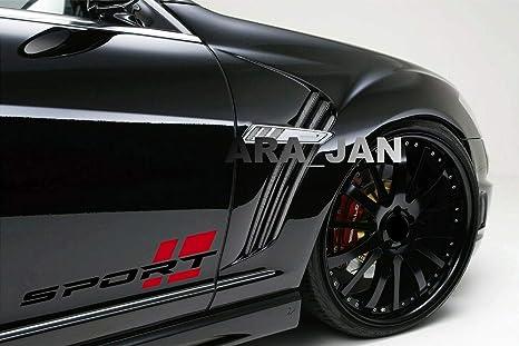 RACING Performance Sport Car Auto Window Vinyl Decal sticker emblem logo 2-pcs
