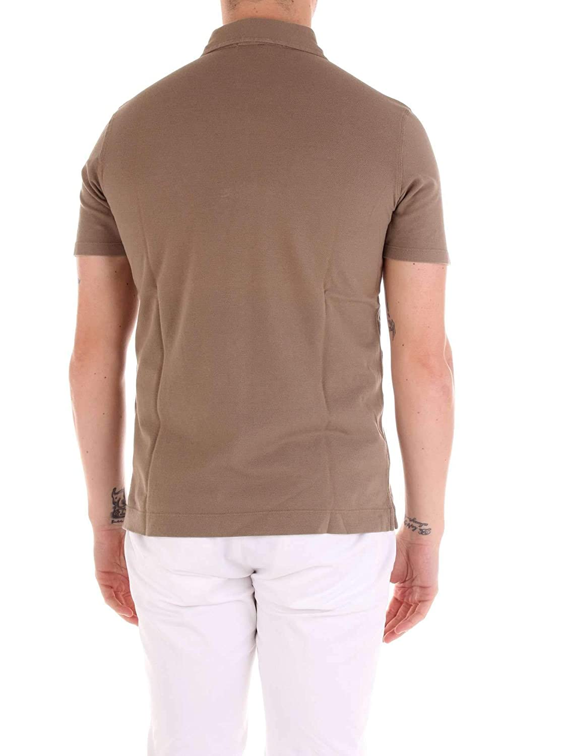wholesale dealer a0f98 01c51 CRUCIANI Men's CUJKPC30FANGO Brown Cotton Polo Shirt at ...