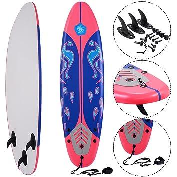 Costway - Tabla de Surf de Espuma Suave para Principiantes, 182 cm, Rojo: Amazon.es: Deportes y aire libre