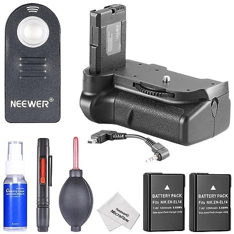 Neewer - Empuñadura de batería vertical, 2 baterías de repuesto EN ...