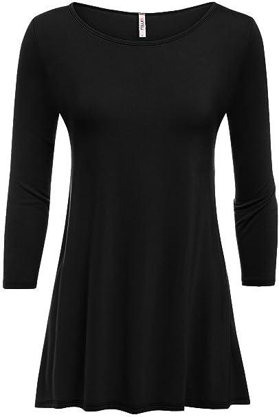 d91df4ae3de Simlu Black Tunic Top, Black Tunic Tops For Leggings, Black Tunic Tops For  Women