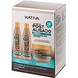 Kativa Postalisado - Kit Champú y Acondicionador y Mascarilla, sin Sal - Paquetes de 3 botellas x 250 ml - Total: 750 ml