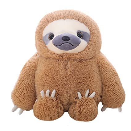 Amazon Com Winsterch Fluffy Sloth Stuffed Animal Toy Gift For Kids