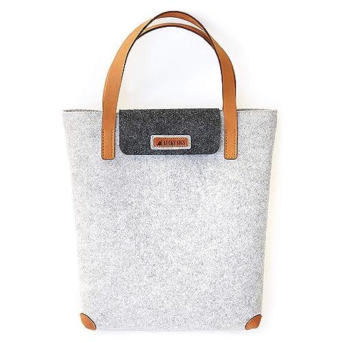 1ca34ee0e Fieltro bolsa de la compra (bolsa bolsa de tela, fieltro fieltro bolsa de la