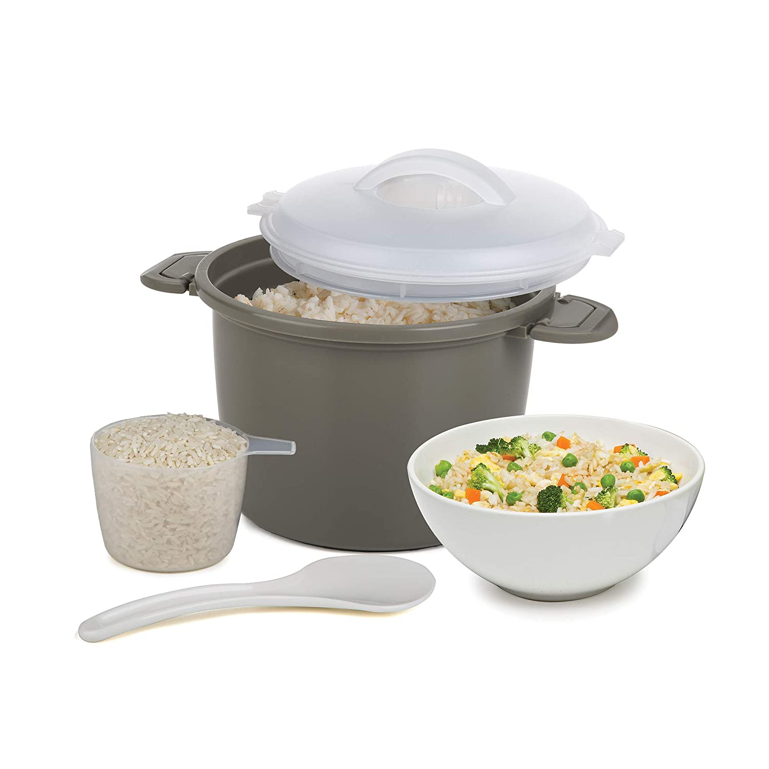 Prep Solutions by Progressive PS-96GY Set Microwave Rice Cooker One Size Gray