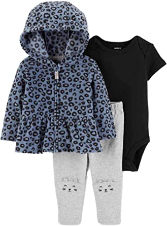 Carters Baby Clothing Outfit Girls Solid Leggings Heather Grey 6M