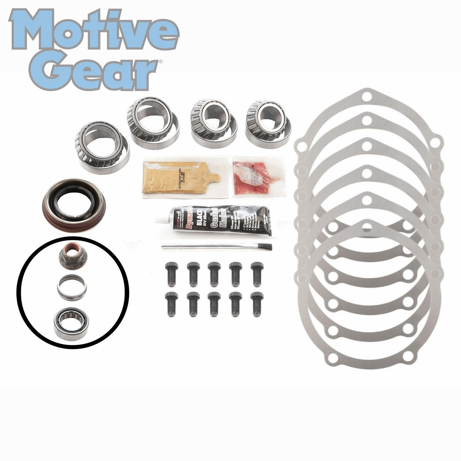 Motive Gear R9RMK Master Bearing Kit with Koyo Bearings, Ford 9' 2.891' BORE LM10291 Ford 9 2.891 BORE LM10291
