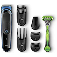 Braun Multi Grooming Kit MGK3040 Black/Blue – 7-in-1 Precision Trimmer for Beard, Hair and Body Styling