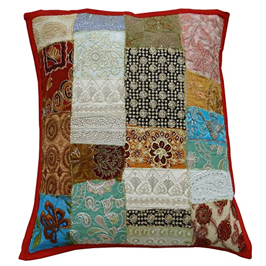 Cojín bordado tradicional Tapa Home Décor remiendo hecho a ...