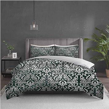 Empire Damask Duvet Quilt Cover Bedding Set With Pillow Case New Summer Design