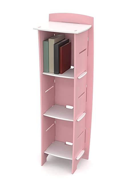 Legare Kids Bookcase 3 Tier Bookshelf Pink And White