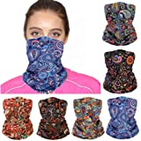 Yeshan Face Mask Bandanas for Women Neck Gaiter Balaclava Magic Hiking Headband Elastic Head Wrap Face Scarf