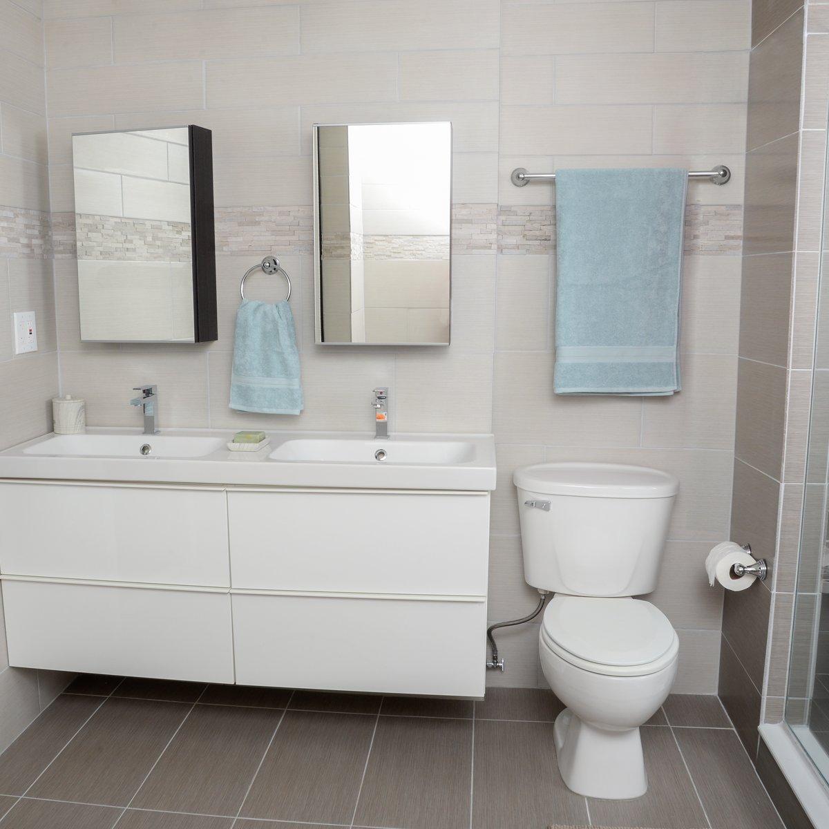 5 pezzi finitura cromata stile tradizionale Basics Set di accessori da bagno