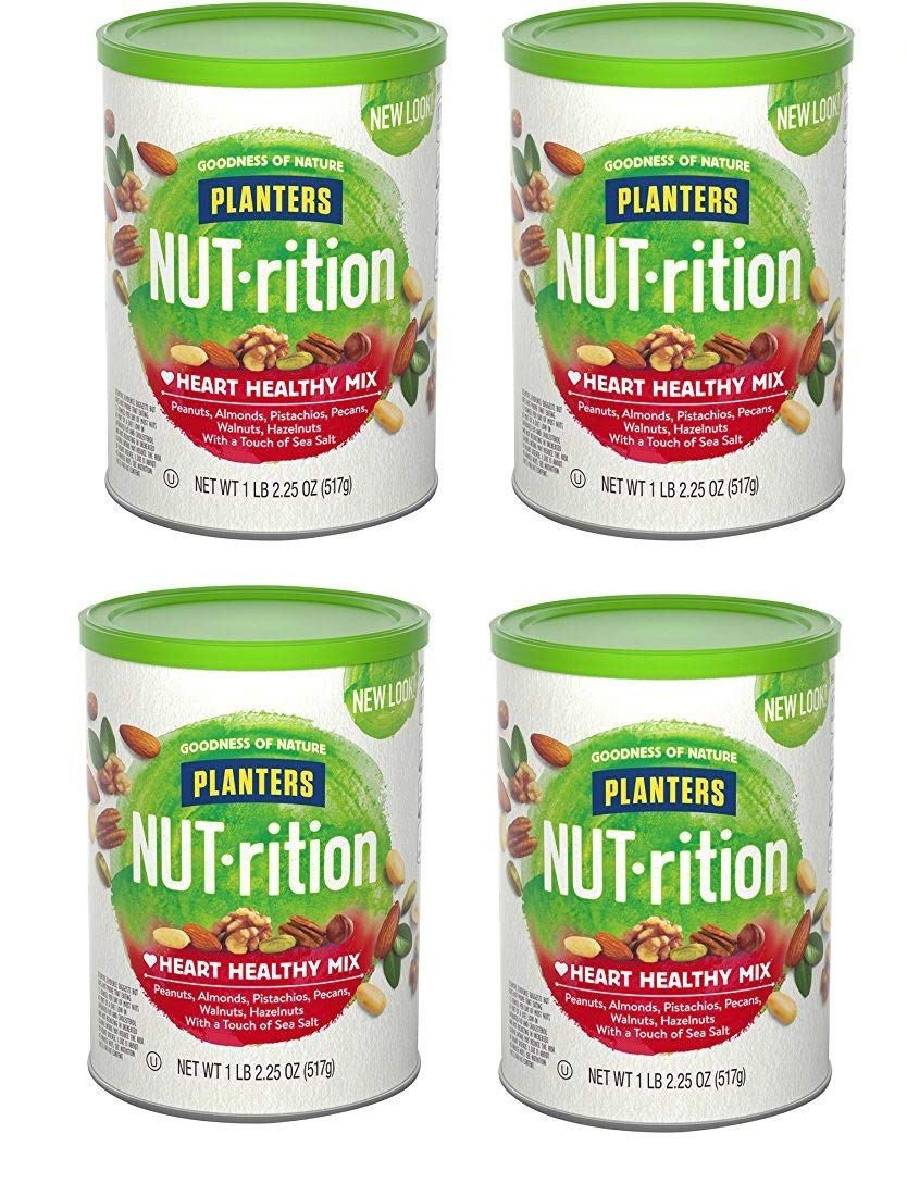 Planters Nutrition Heart Healthy Mix, 4 Tubs