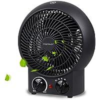 Aigostar Airwin Black 33IEL - Ventilateurs de table de 2000W avec régulateur de température et de puissance. Chauffage soufflant,Protection contre la surchauffe. Couleur noir. Design exclusif.