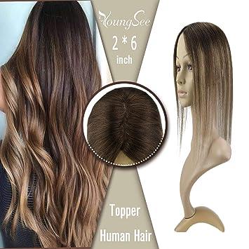 YoungSee 16inch 100% Human Hair Mono Base