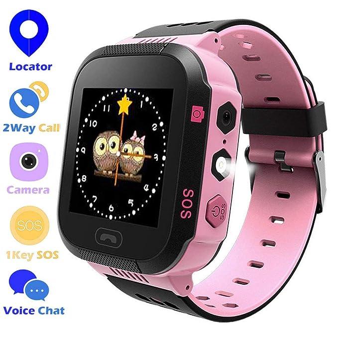 Jsbaby Kids Smart GPS Watch 1.44 inch Touch Smartwatch LBS Kid Tracker for Children Girls Boys Birthday Gift with Camera SIM Calls Anti-Lost SOS ...