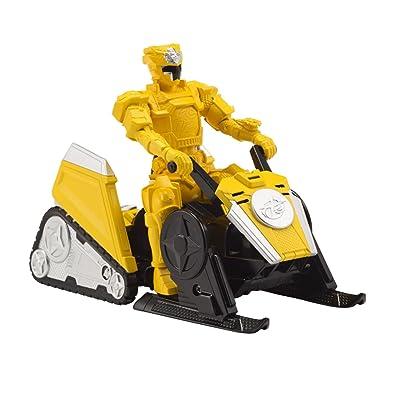 Power Rangers Super Ninja Steel Mega Morph ATV with Yellow Ranger: Toys & Games