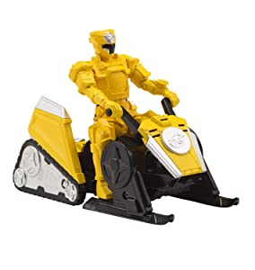 Power Rangers Super Ninja Steel Mega Morph ATV with Yellow Ranger