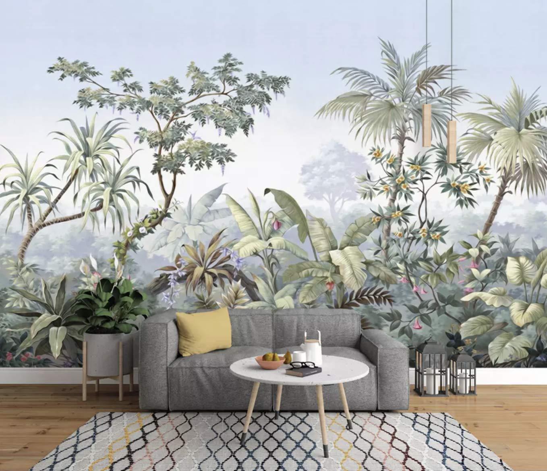 Amazon Com Murwall Forest Wallpaper Tropical Jungle Wall Mural