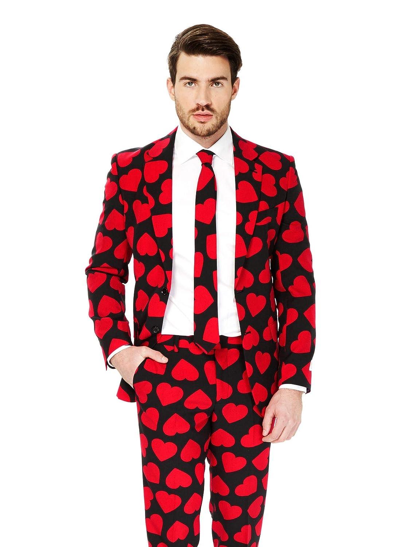 Abito con Colori e Stampe Divertenti Giacca Completo Pantaloni e Cravatta opposuits