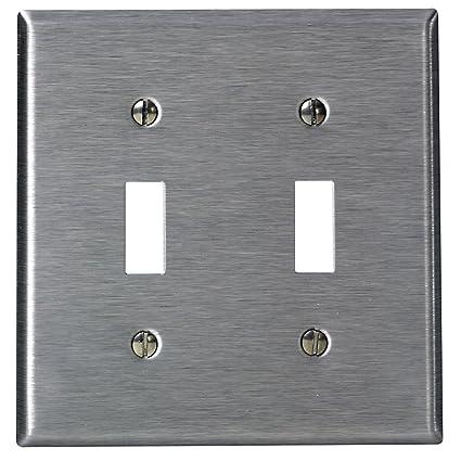 Leviton 84009 40 2 Gang Toggle Device Switch Wallplate Standard
